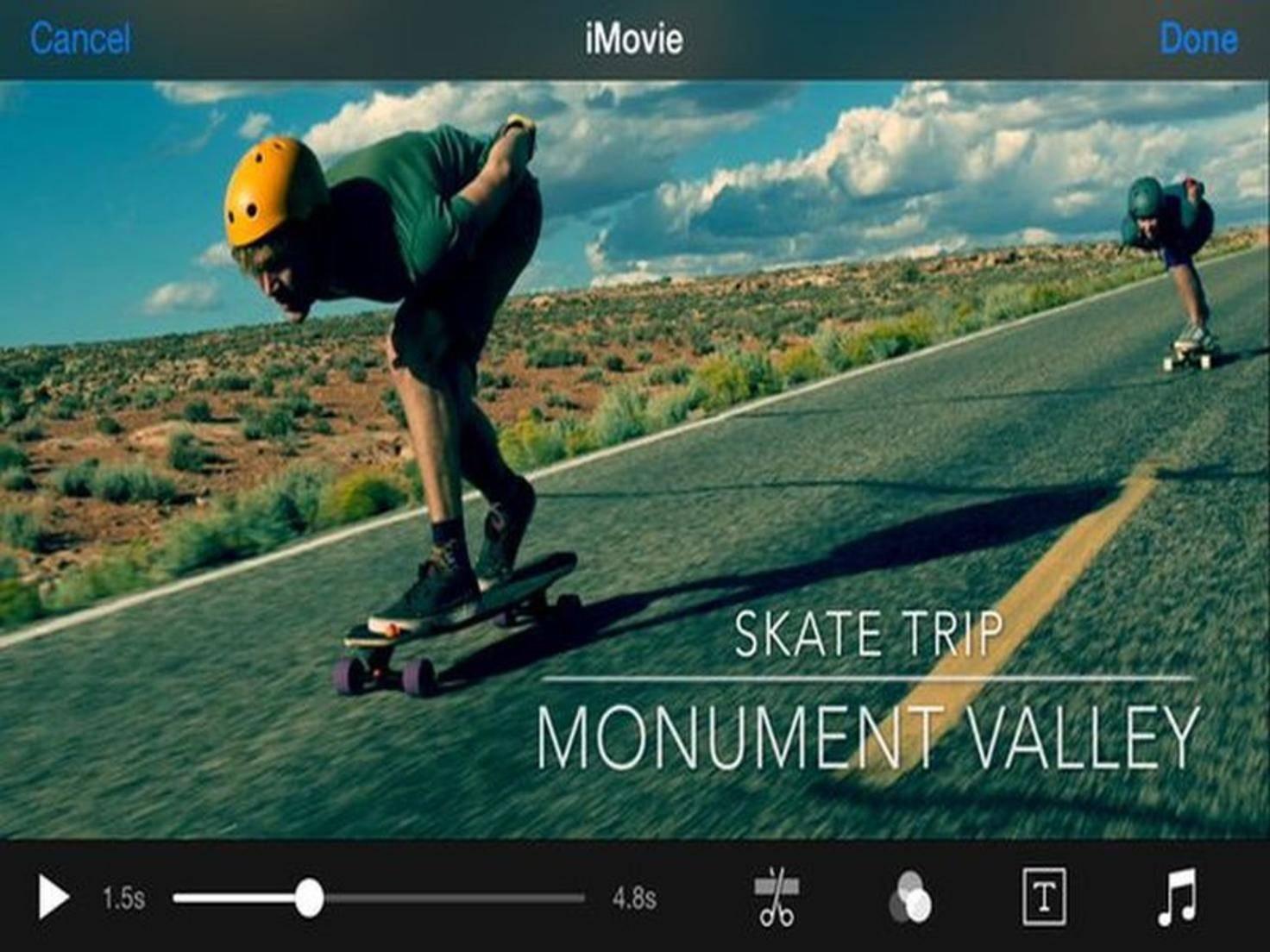Mit iMovie wird jeder zum Nachwuchs-Regisseur.