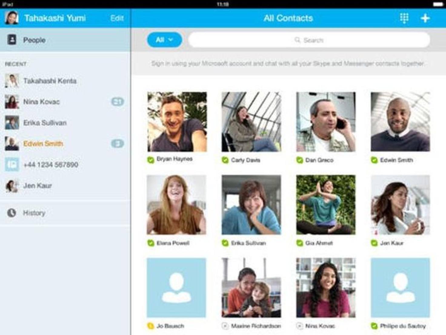 Mit Skype kannst Du mit deinen Freunden immer in Verbindung bleiben.