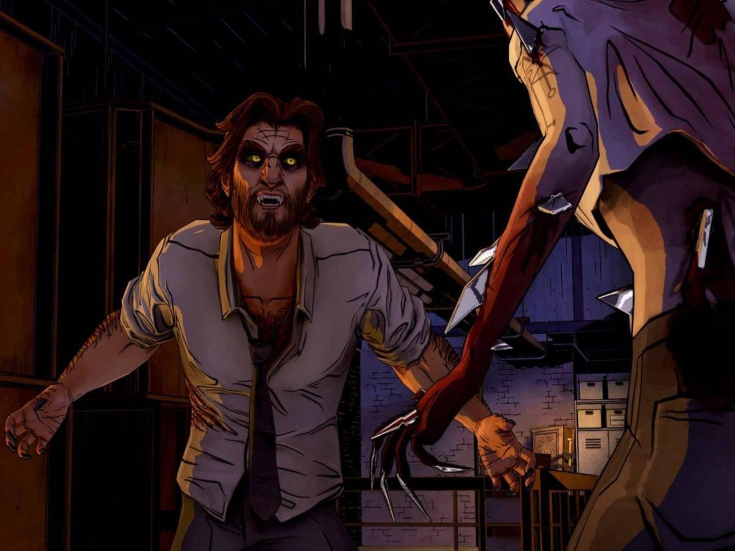 """""""Was hast du für großeAAAARGH!"""" - Bigby Wolf ist mächtig sauer."""
