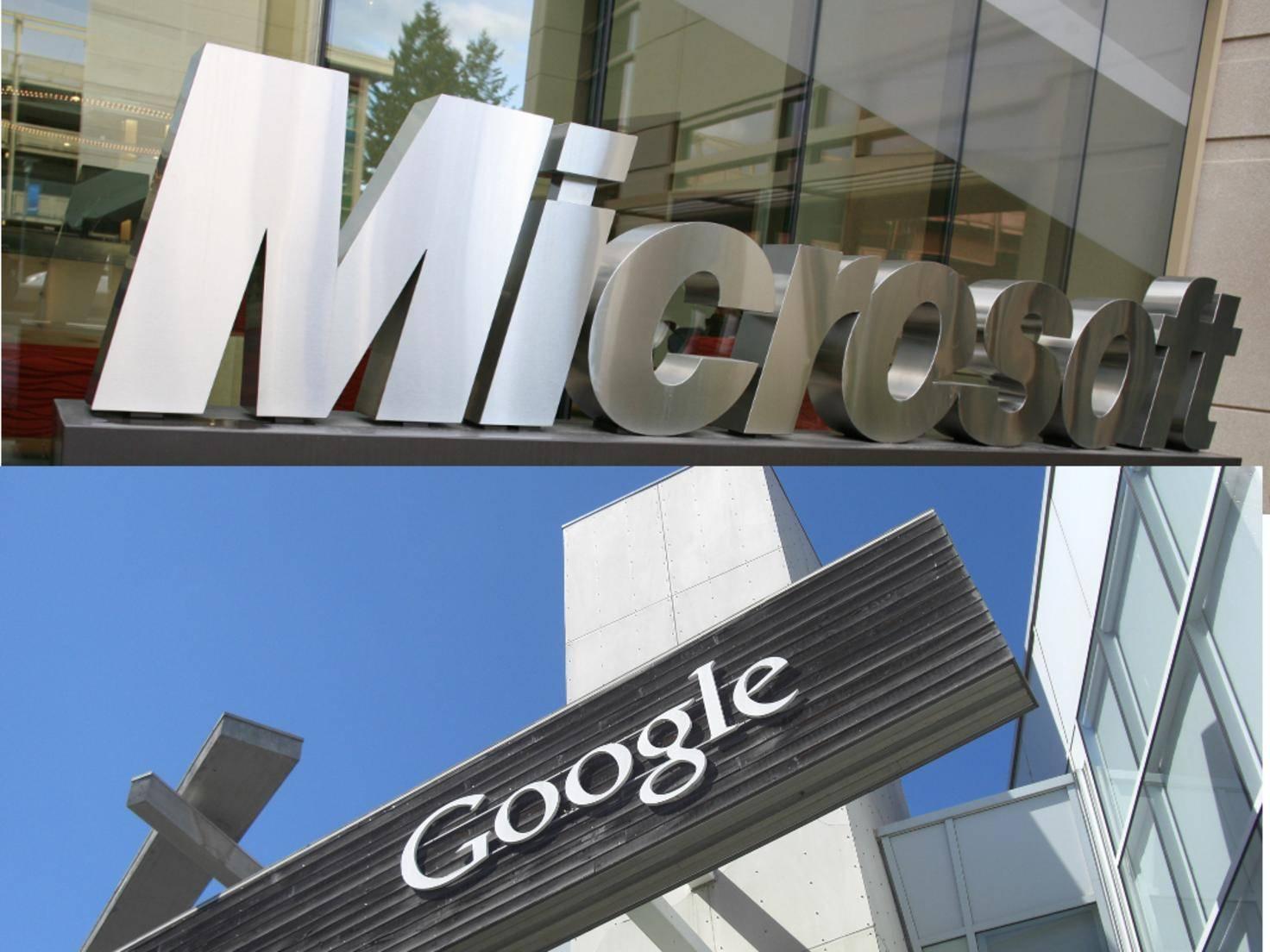 Microsoft und Google