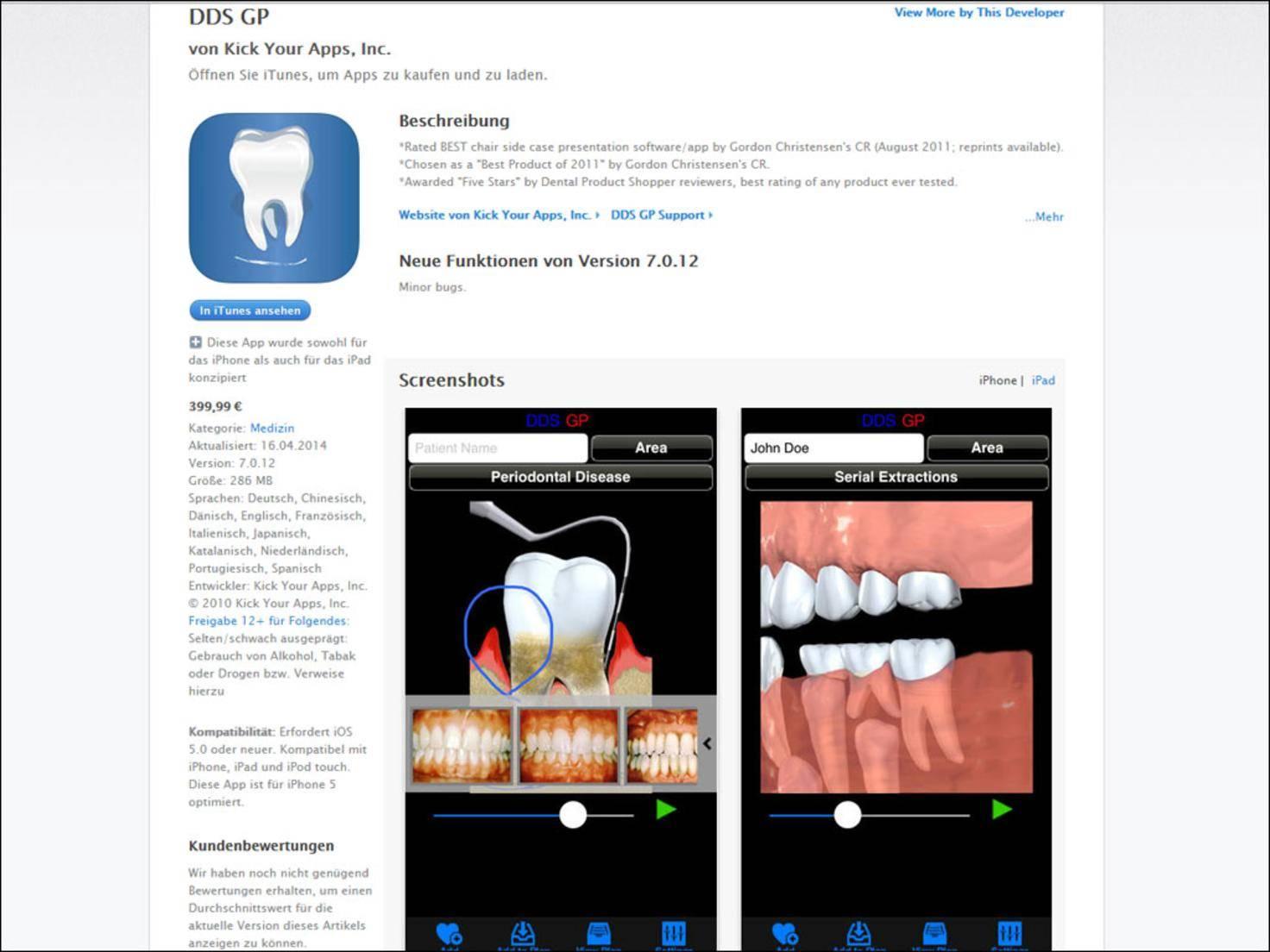 Wer beim Zahnarzt bohrende Fragen stellt, bekommt die Antworten demnächst vielleicht per App serviert.