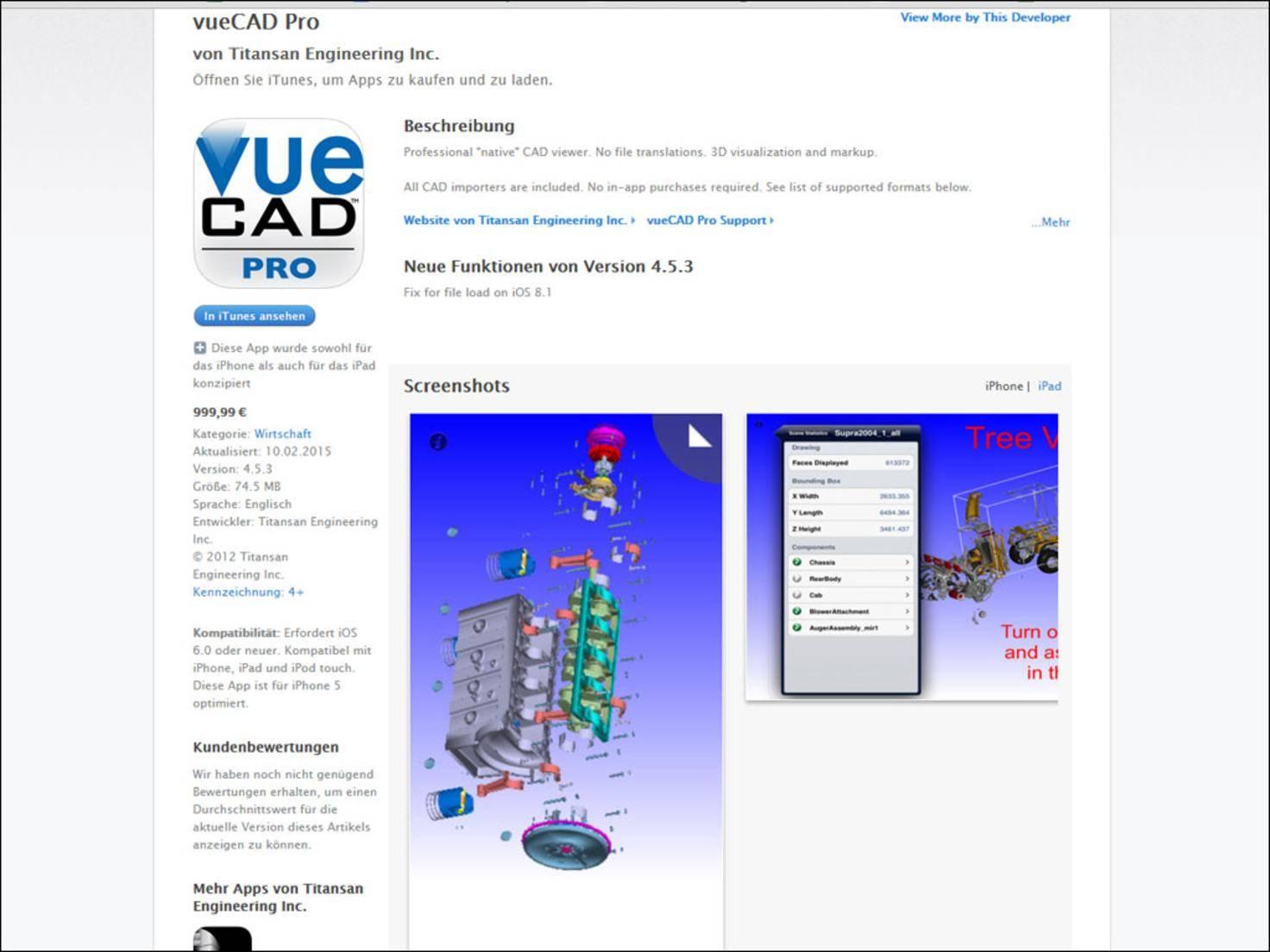 Mit VUECad Pro können Ingenieure ihre Erfindungen kinderleicht präsentieren.