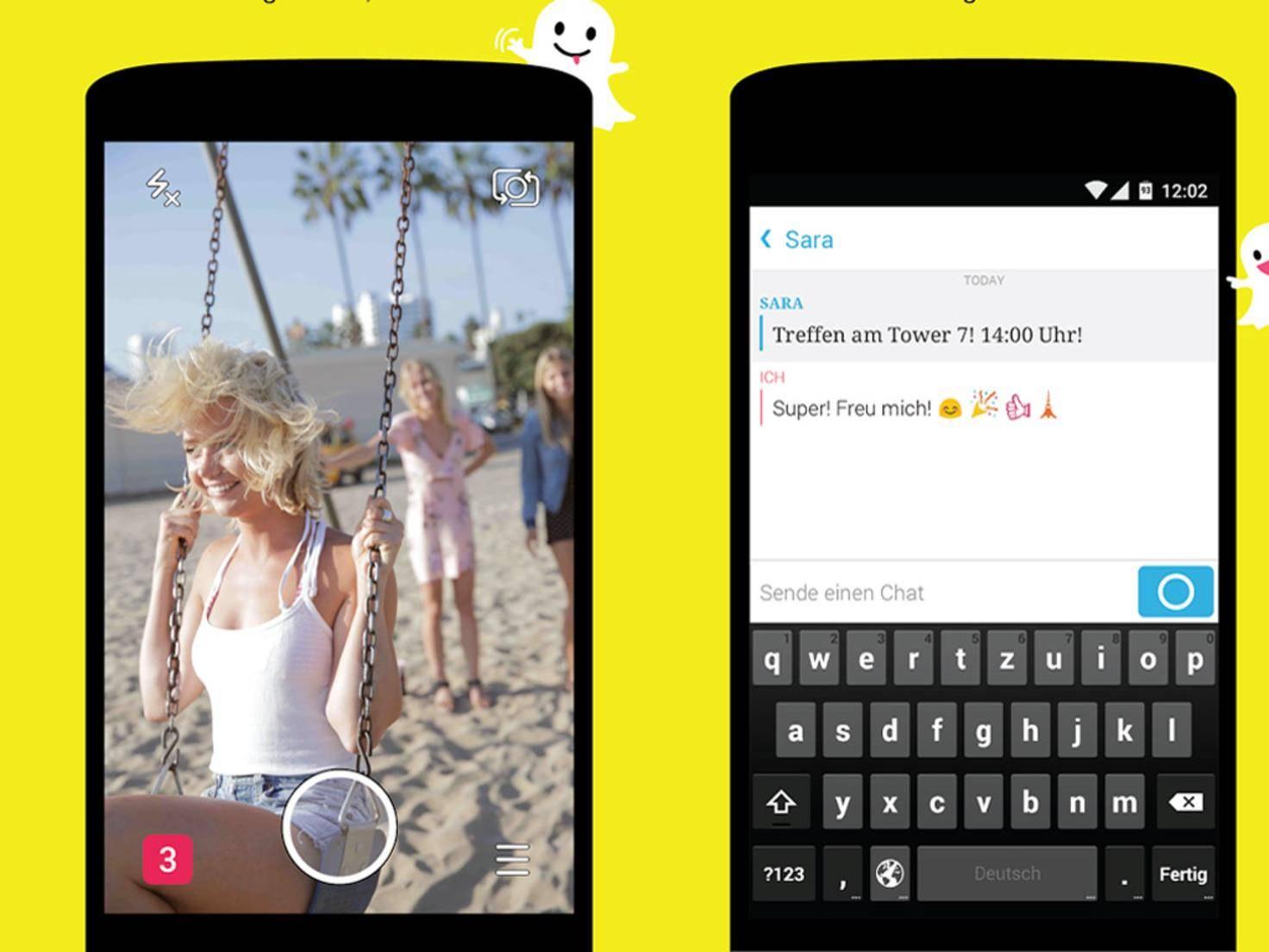 Foto-Messenger Snapchat