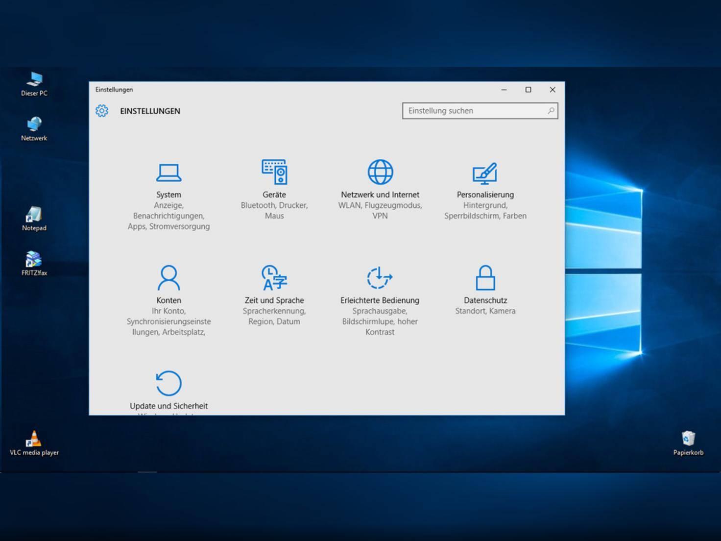 Windows 10 Einstellungen