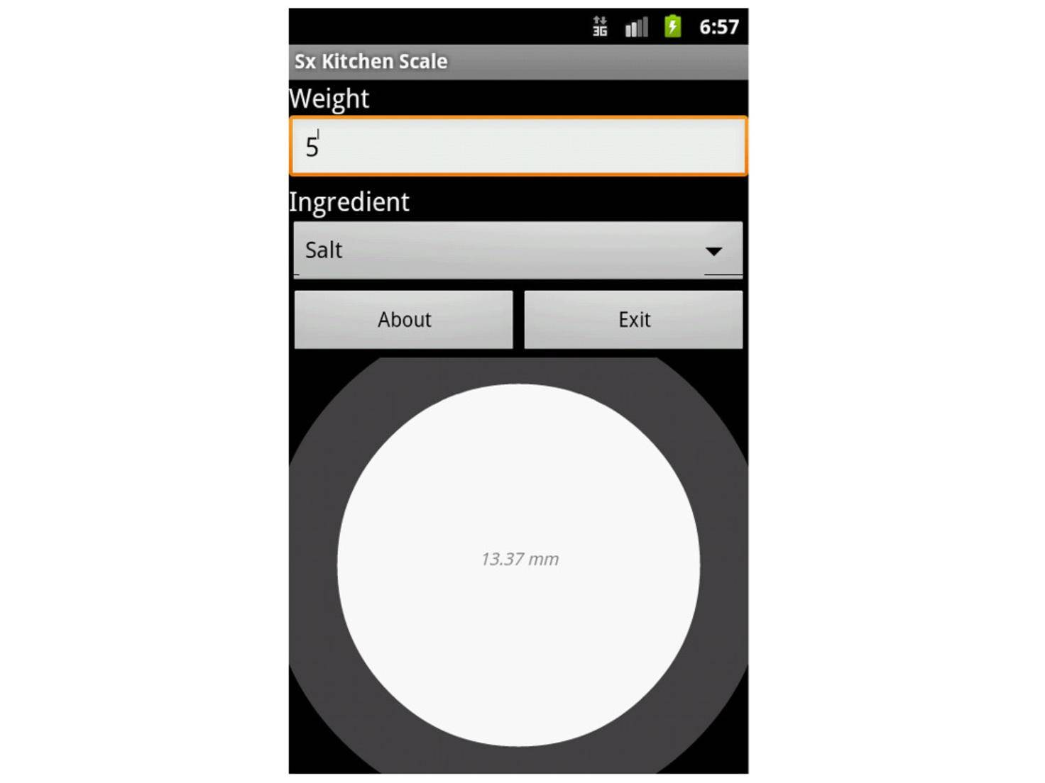 Kitchen Scale Android App