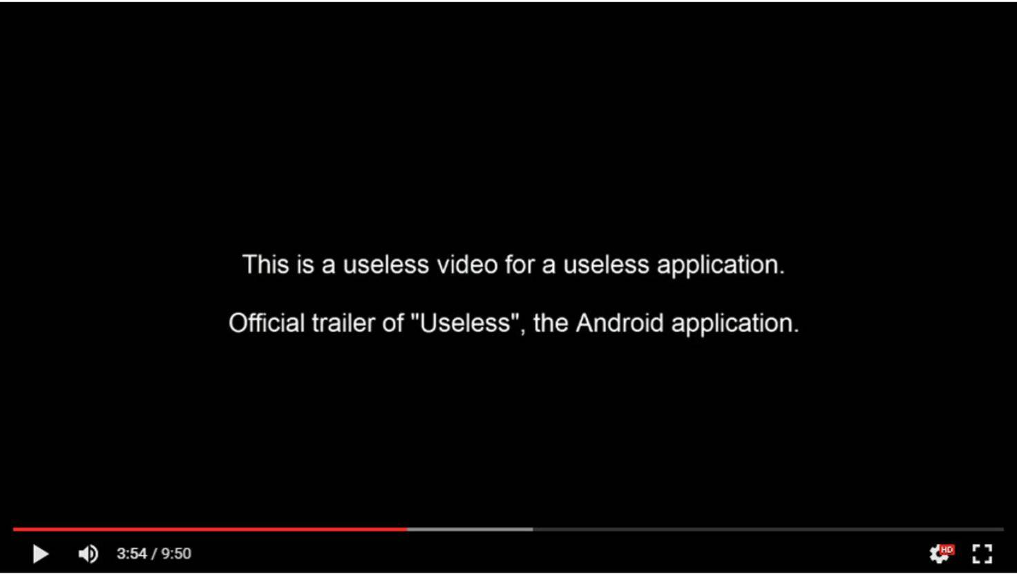Trailer Useless Android App
