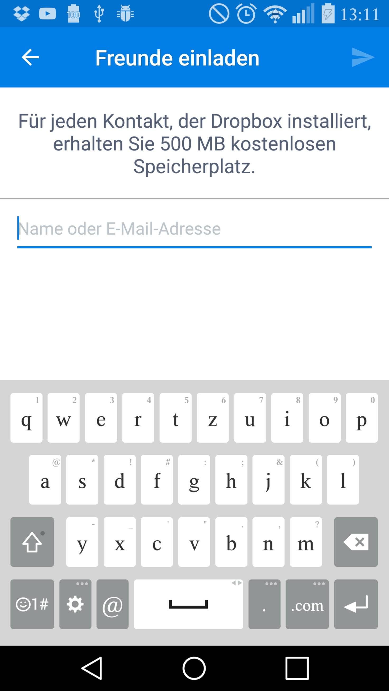 Dropbox Freunde einladen TURN ON