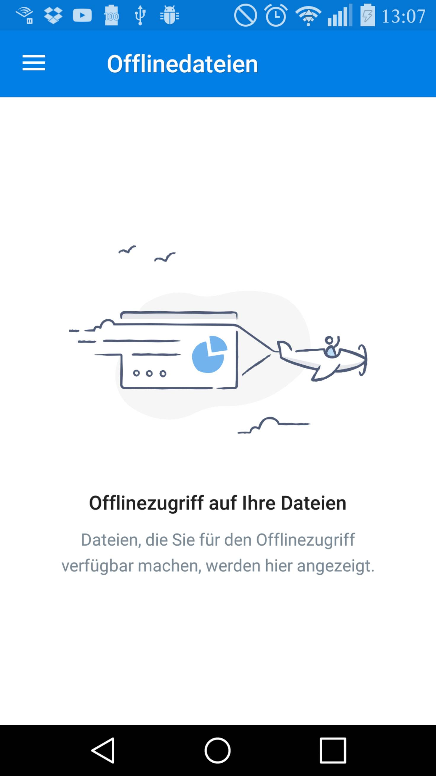 Dropbox Offline speichern TURN ON
