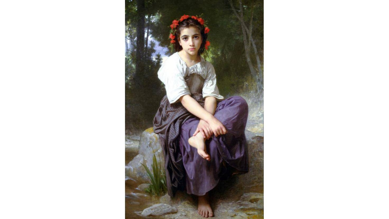 William Adolphe Bouguereau Au Bord du Ruisseau