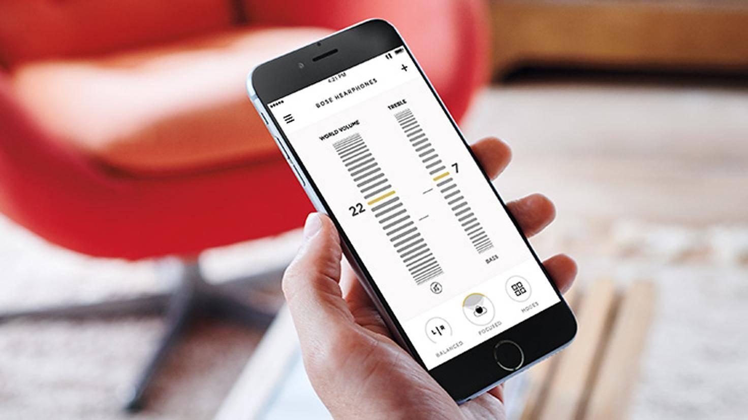 Mit der App lassen sich bestimmte Voreinstellungen speichern.