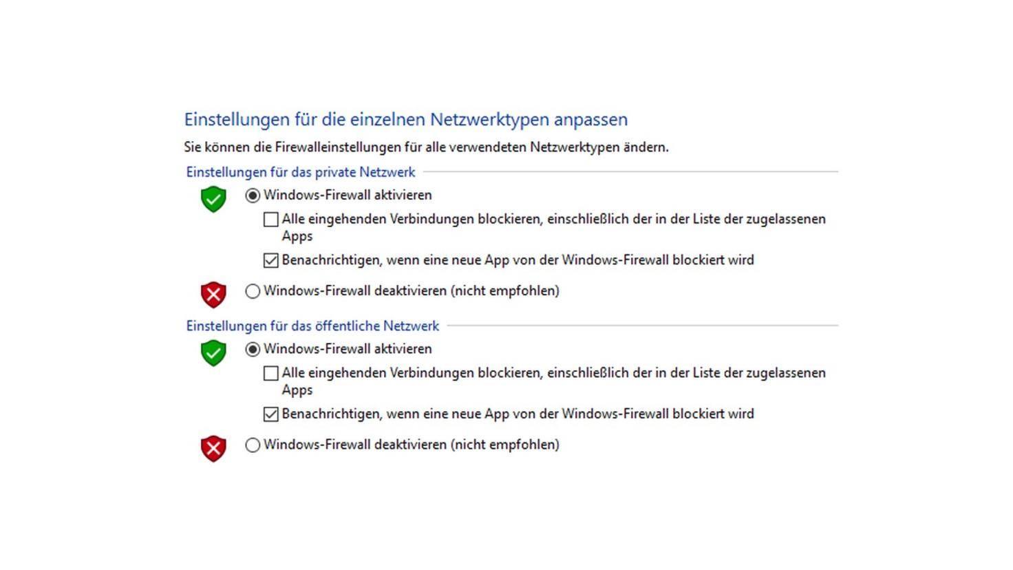 Windows 10 Firewall