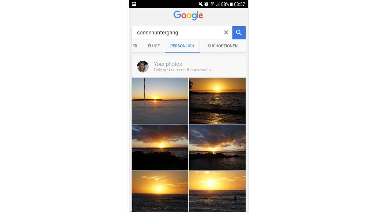 Google Suche persoenlich