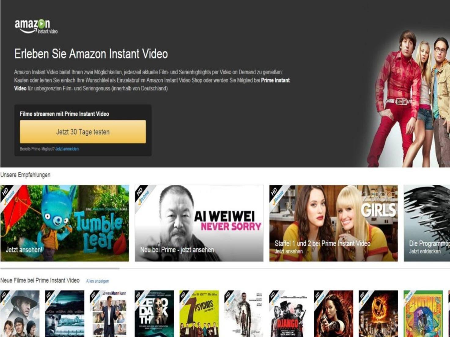 Breit aufgestellt: Amazon Instant Video