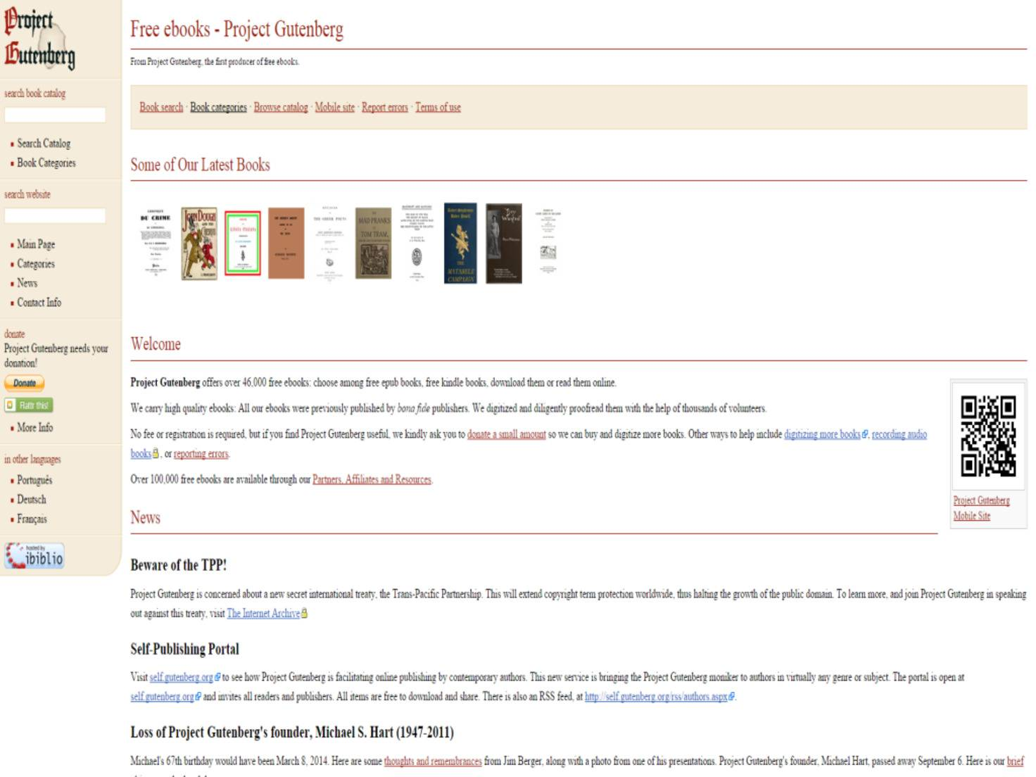 Free ebooks   Project Gutenberg