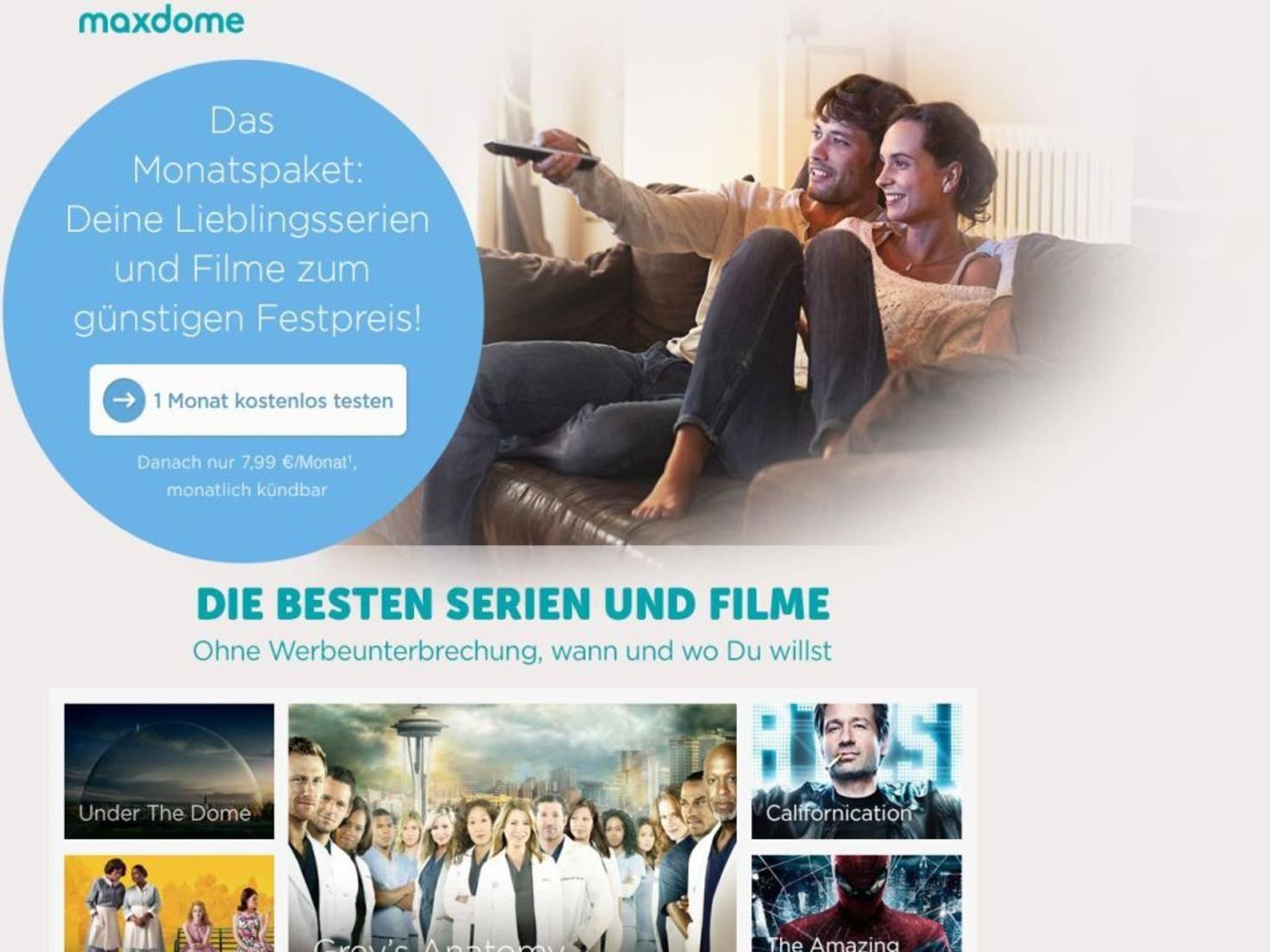 Größter Anbieter Deutschlands: Maxdome