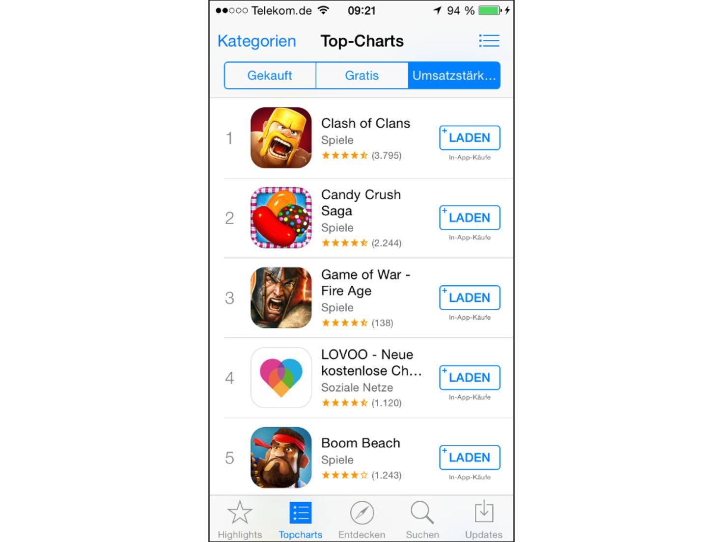 App Store von Apple