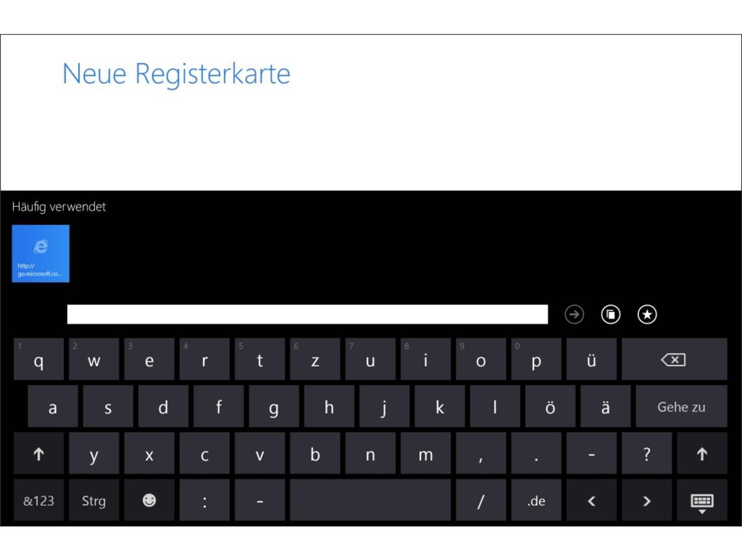 Wer sich mit der Bildschirmtastatur nicht arrangieren will, muss das Type Cover kaufen.