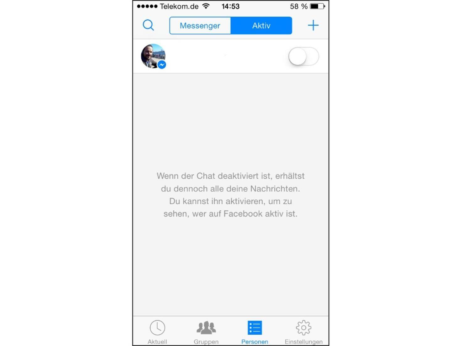 Der Chat im Facebook Messenger lässt sich ganz einfach abschalten.