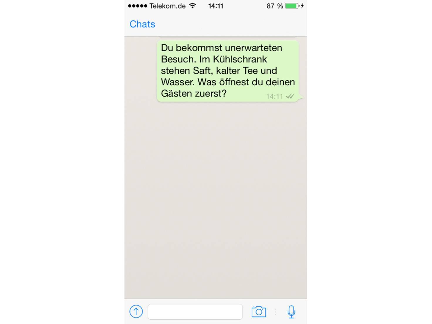 Whatsapp Rätsel Kühlschrank