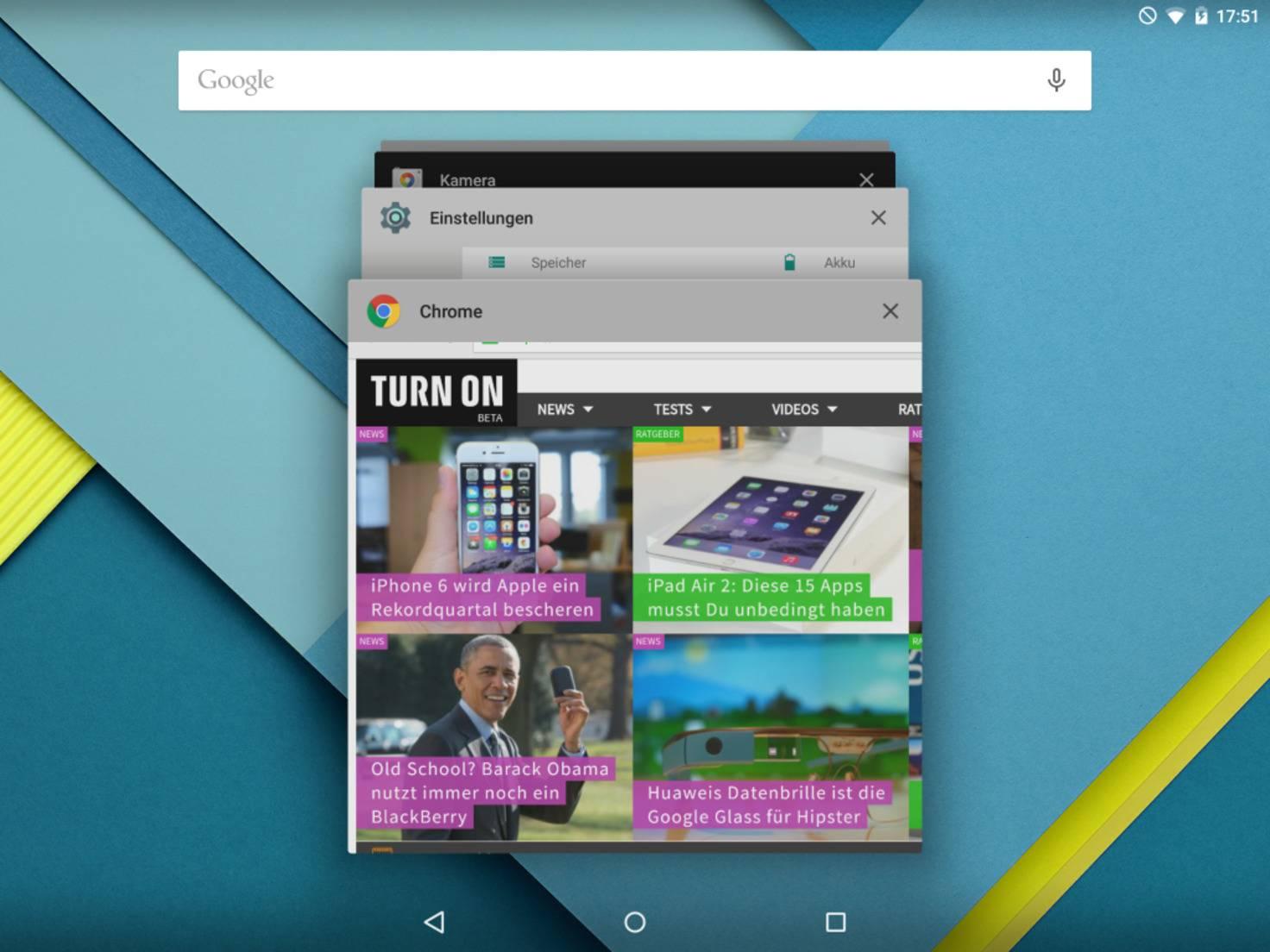 Nexus 9 Task Manager