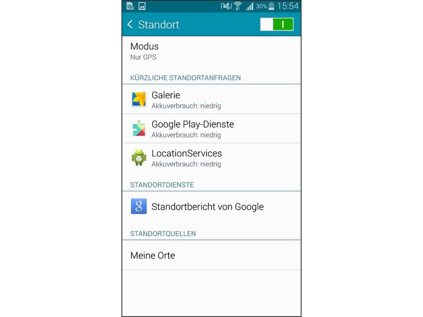 Die Standort-Dienste fressen beim Galaxy Note 4 ordentlich Akkulaufzeit.