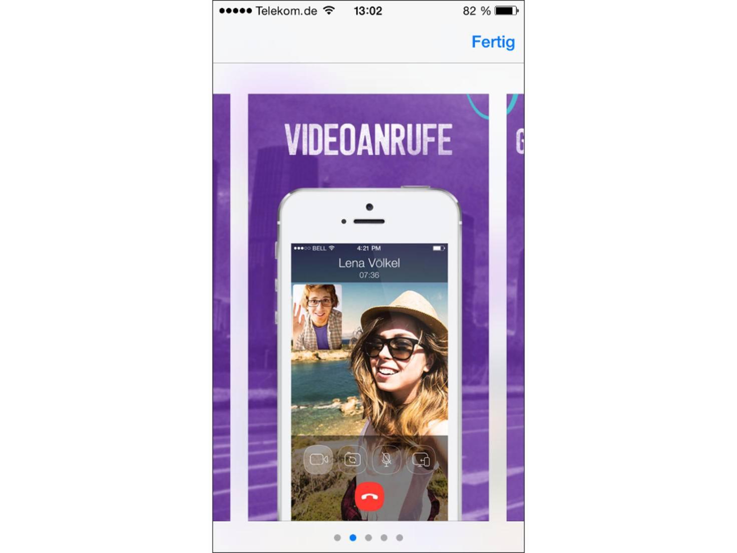 Viber unterstützt nach einem Update auch Videoanrufe.