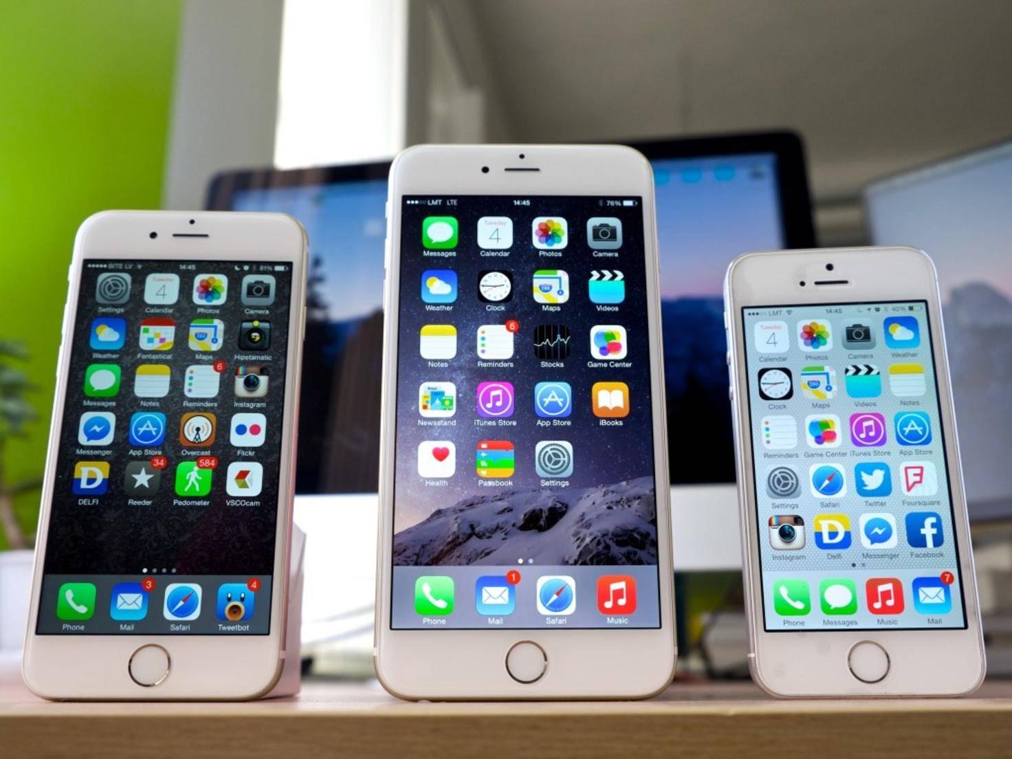 iPhone 5s und 6 und 6 Plus