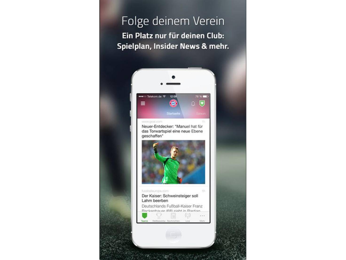 Onefootball: Keine News zum Lieblingsverein mehr verpassen.