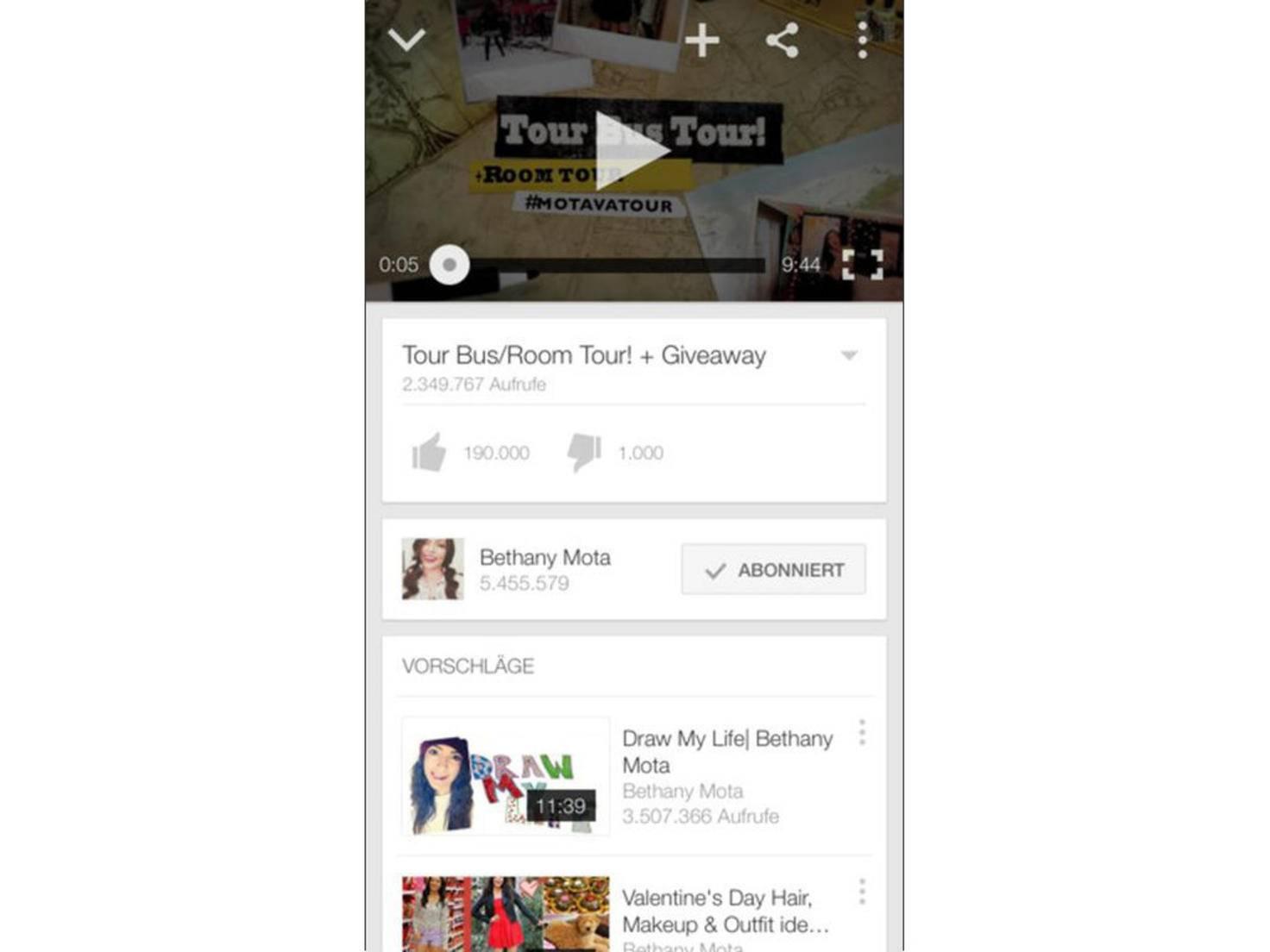 Die YouTube-App bietet eine praktische Bild-im-Bild-Funktion.