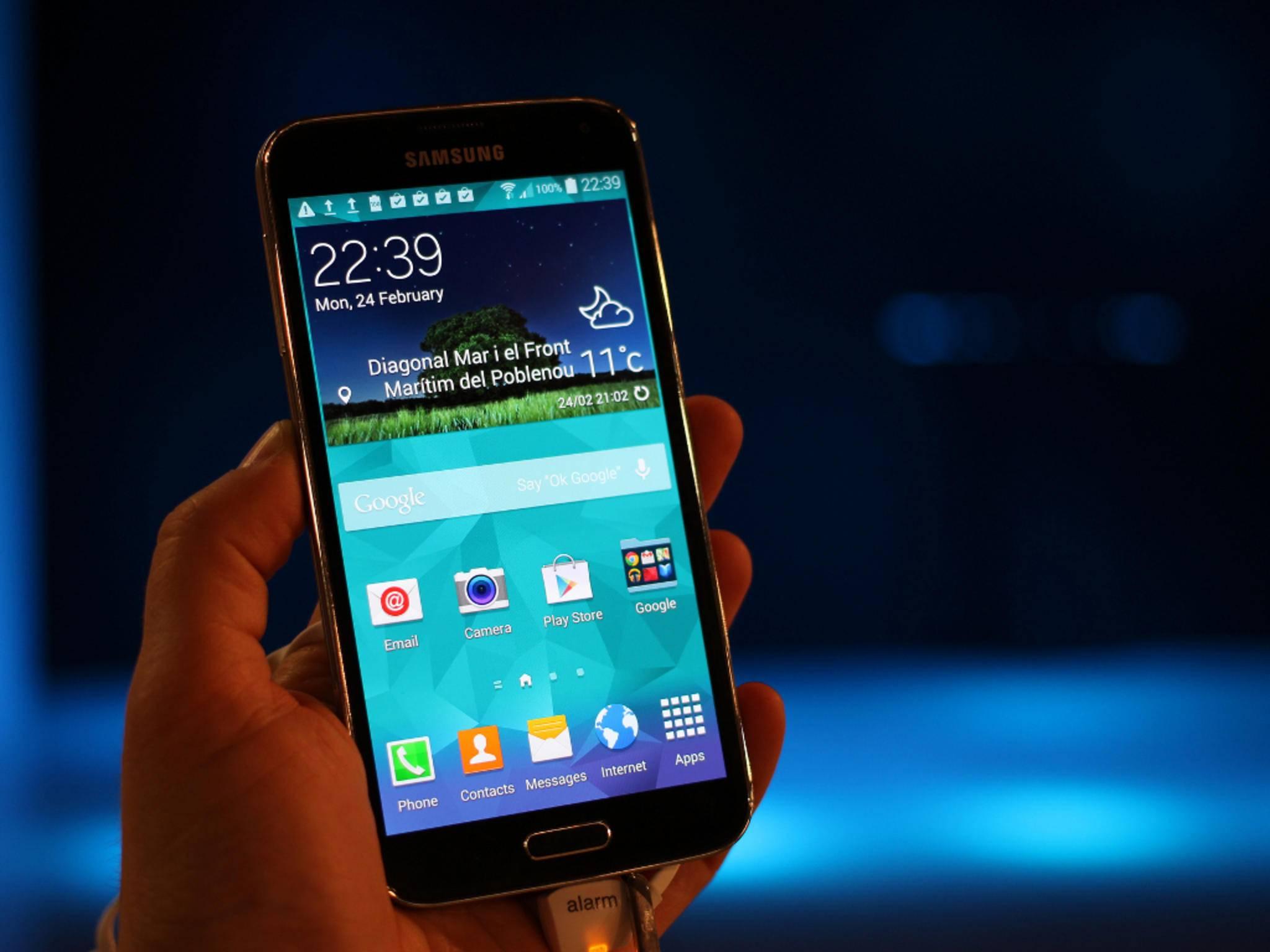 Samsung hatte das Galaxy S5 auf dem MWC 2014 vorgestellt.