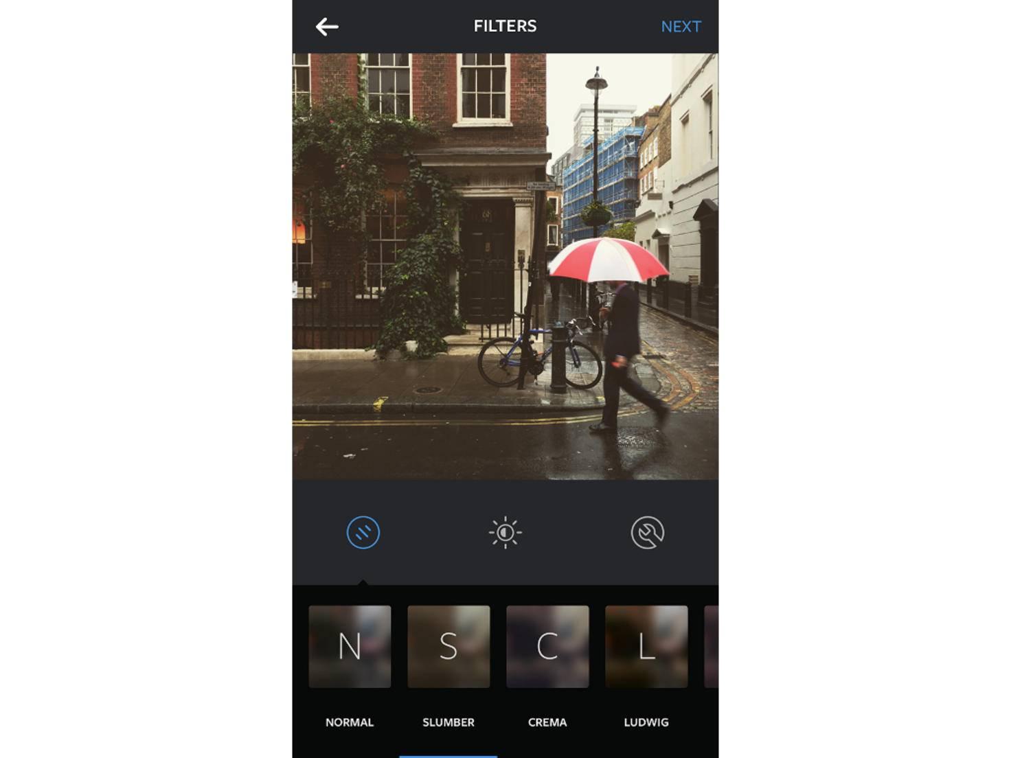 Der Filter Slumber ist einer von 24 Effekten bei Instagram.