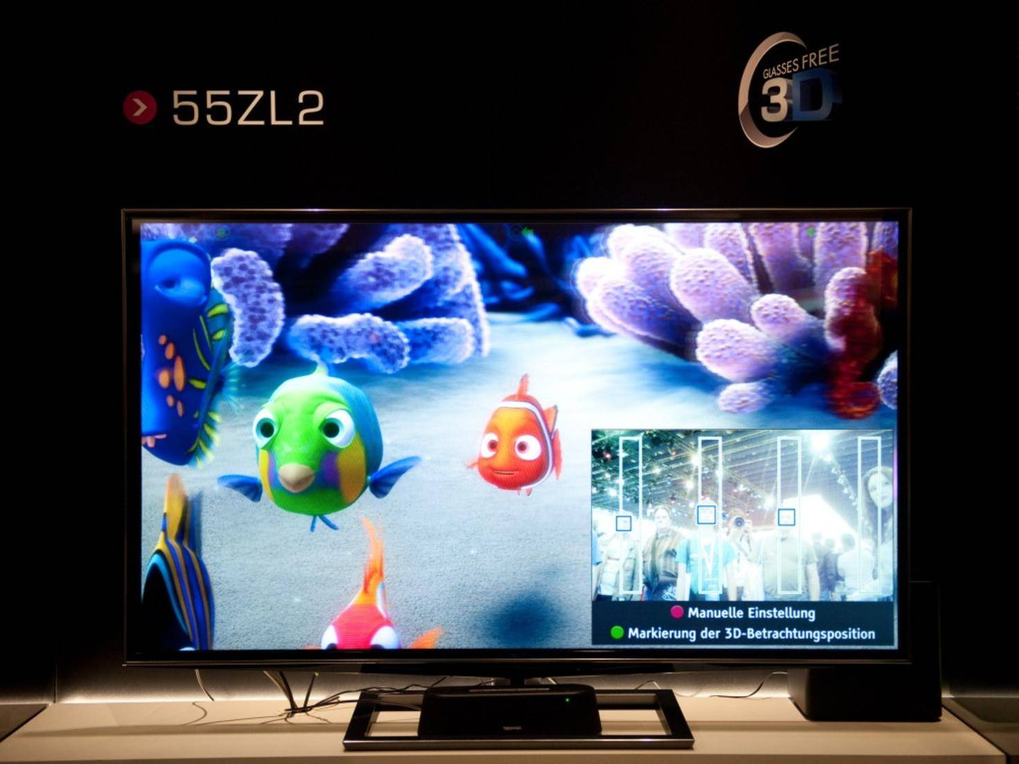 Toshibas 55ZL2 war der weltweit erste 3D-Fernseher, der ohne Brille auskam.