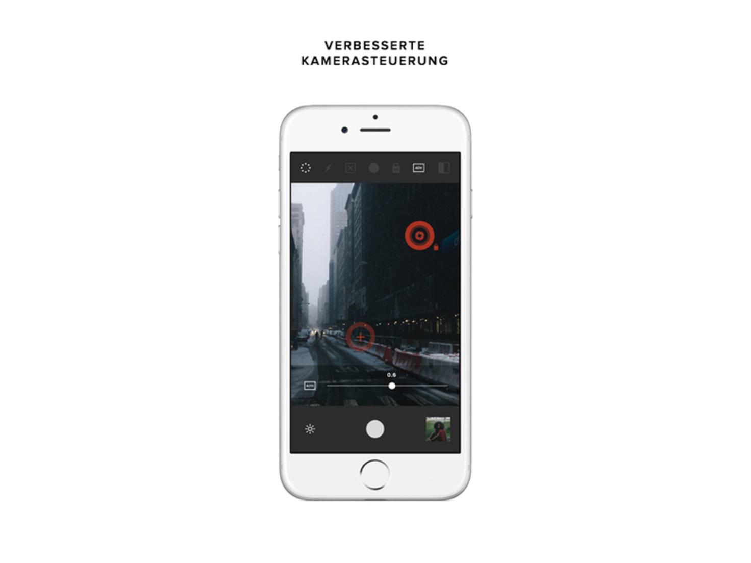 VSCO CAM knipst Fotos mit einem eigenen Interface.