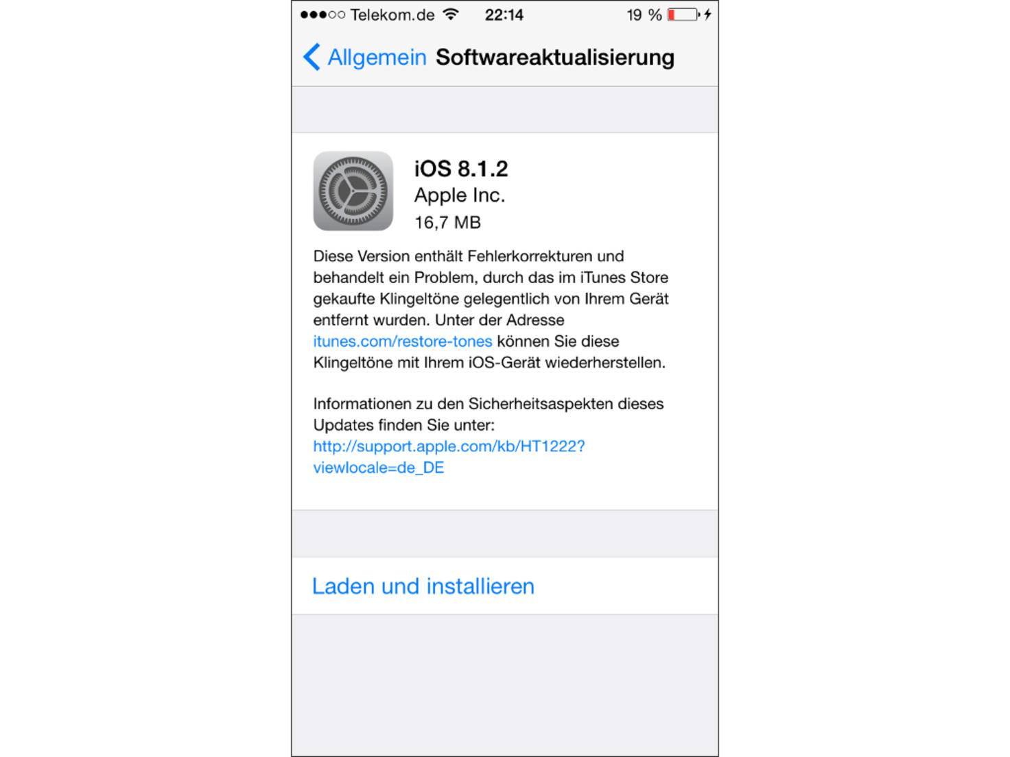 iOS sollte für eine gute Performance stets auf dem neuesten Stand sein.