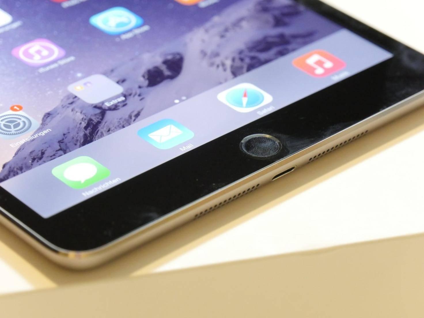 Wichtigste Neuerung gegenüber dem iPad mini 2 ist der Fingerabdrucksensor.