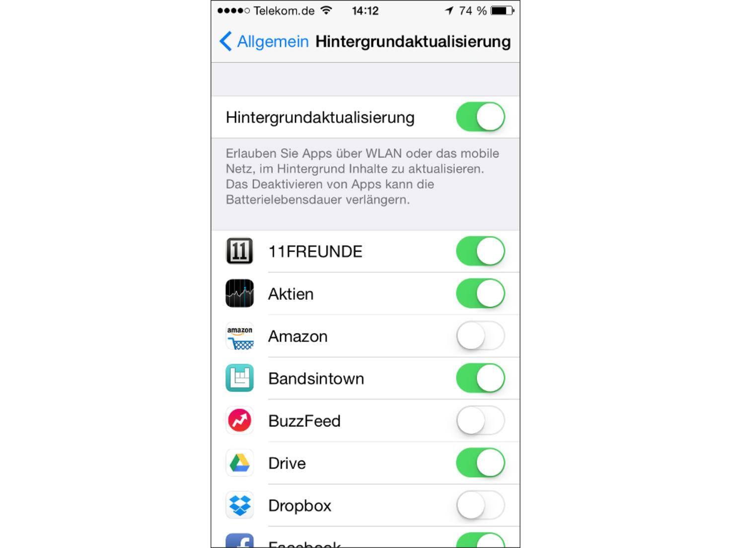 App-Übersicht