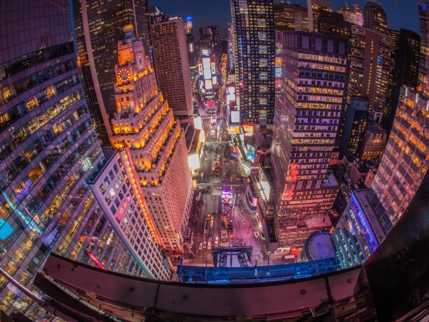 Ein beeindruckender Blick über den New Yorker Times Square.