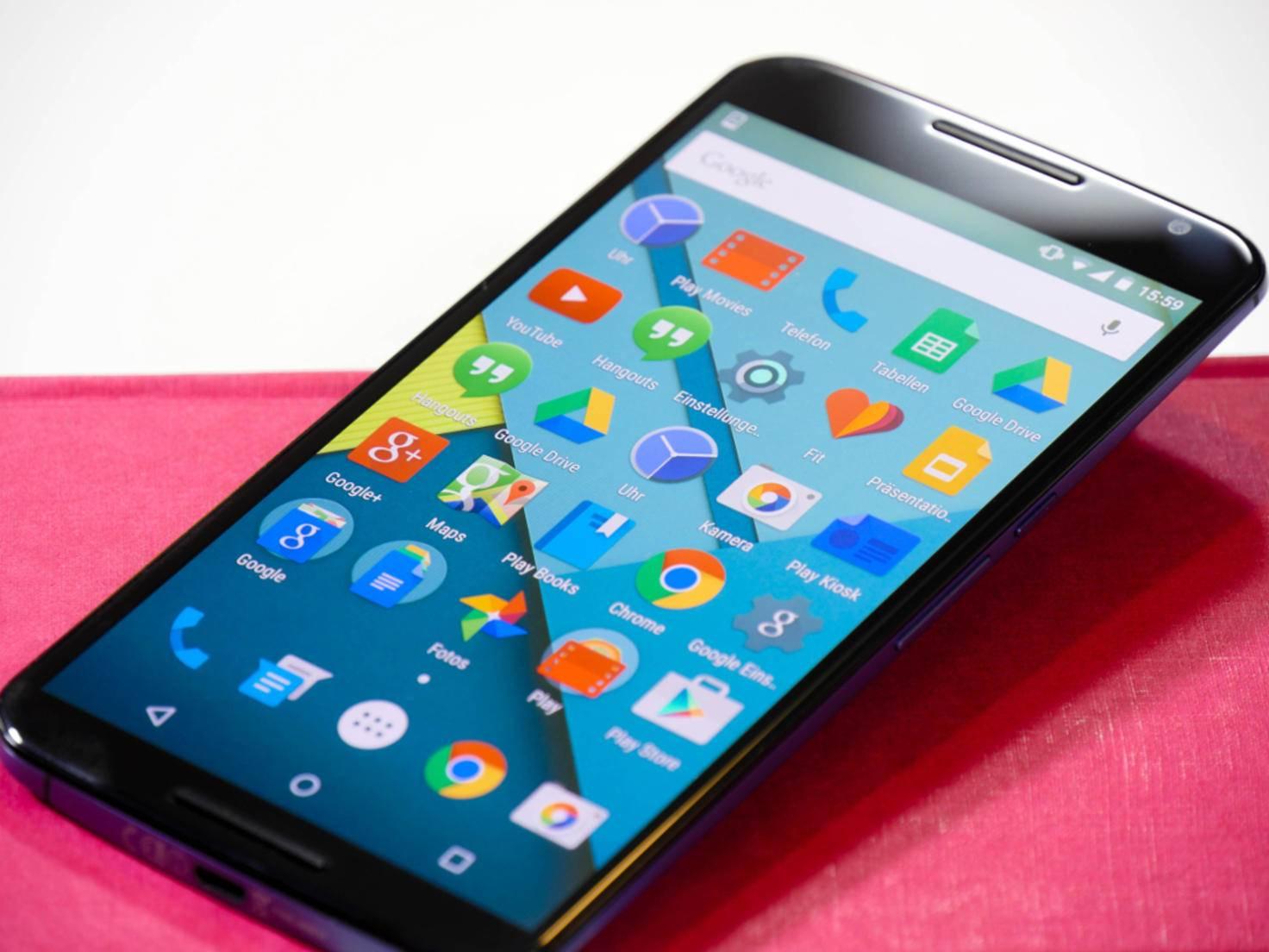 Das QHD-Display des Nexus 6 löst mit 2560 x 1440 Pixeln auf.