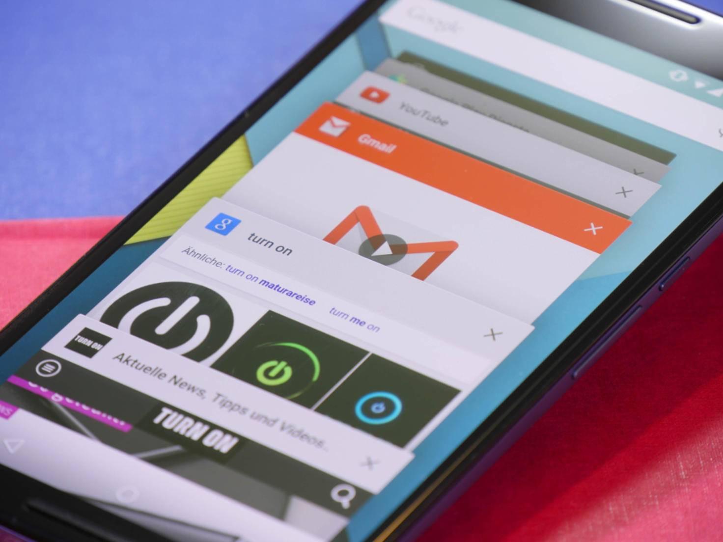 Neu bei Android 5.0 Lollipop ist beispielsweise der überarbeitete Task-Manager.