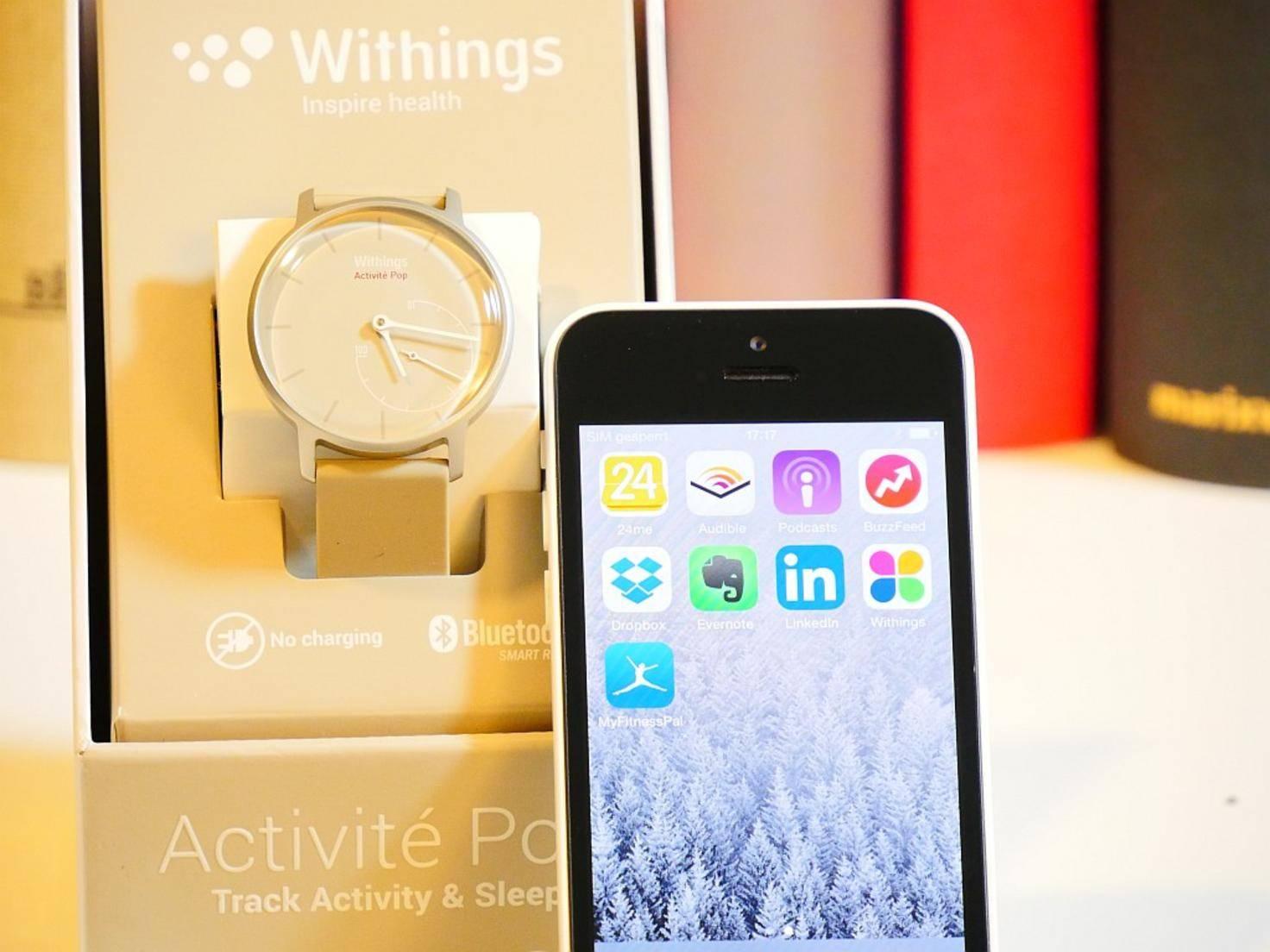 Für die Aktivierung der Uhr sind ein iPhone und die Withings Health Mate App nötig.