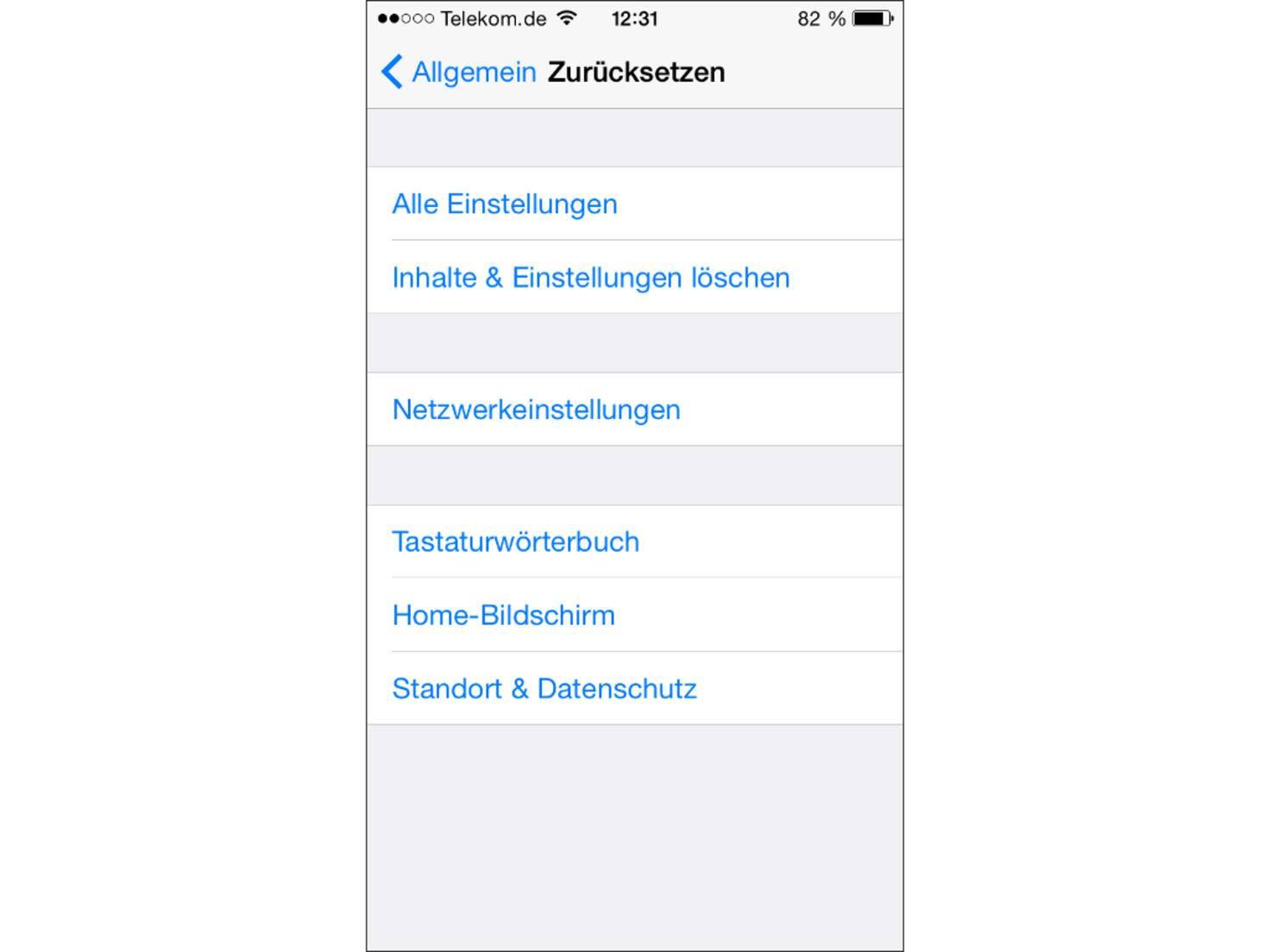 Vor dem Zurücksetzen des iPhone sollte ein Backup durchgeführt werden.