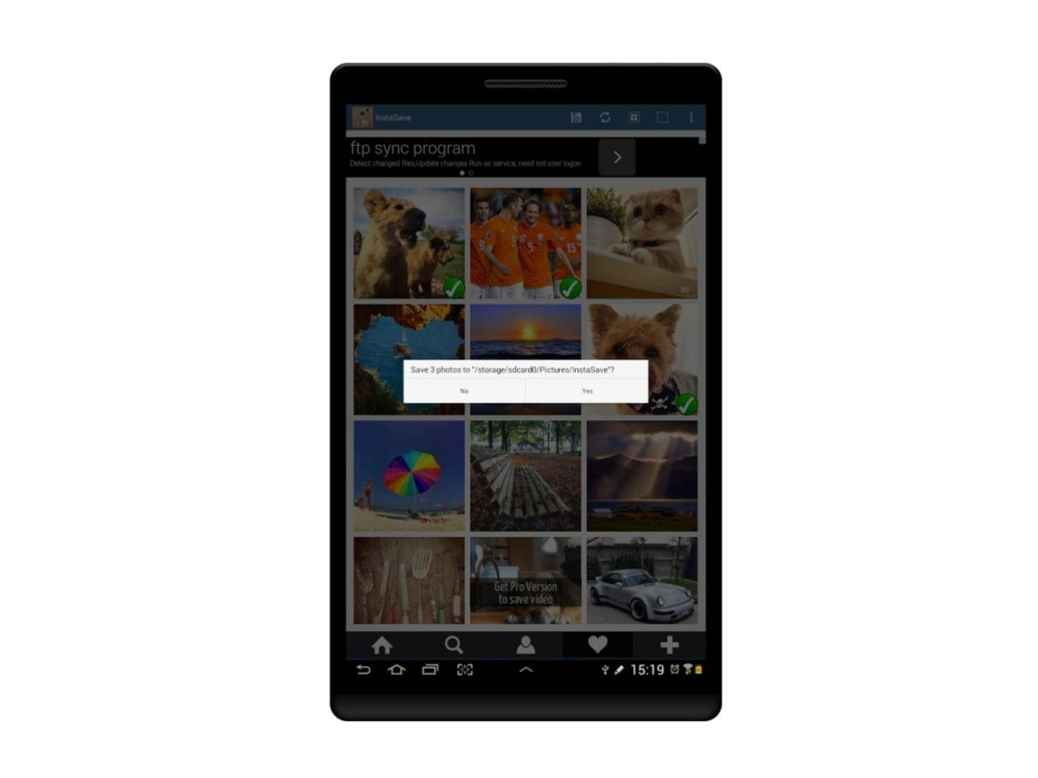 Mit InstaSave speicherst Du Instagram-Bilder mit nur wenigen Handgriffen.