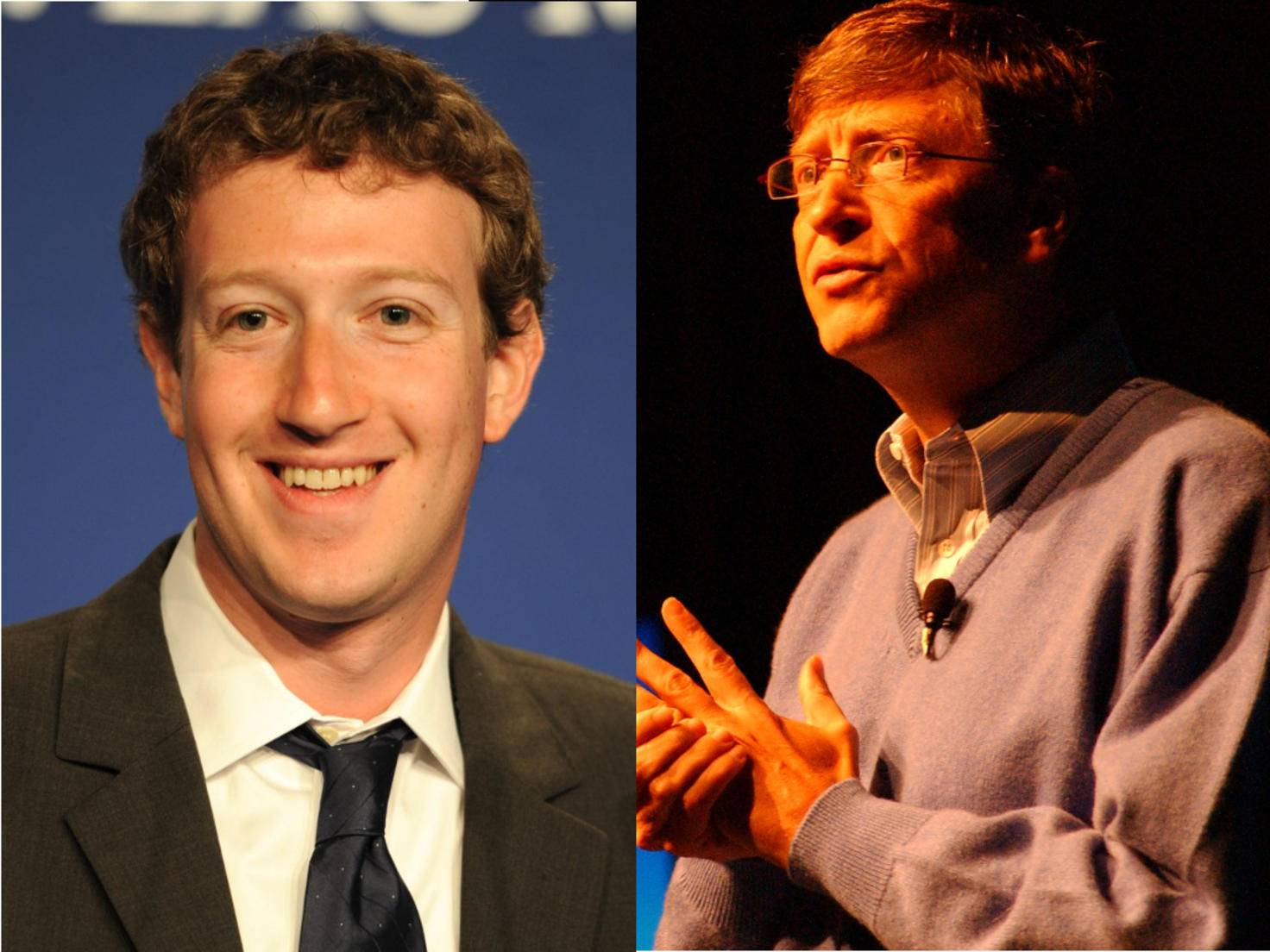 Mark Zuckerberg und Bill Gates