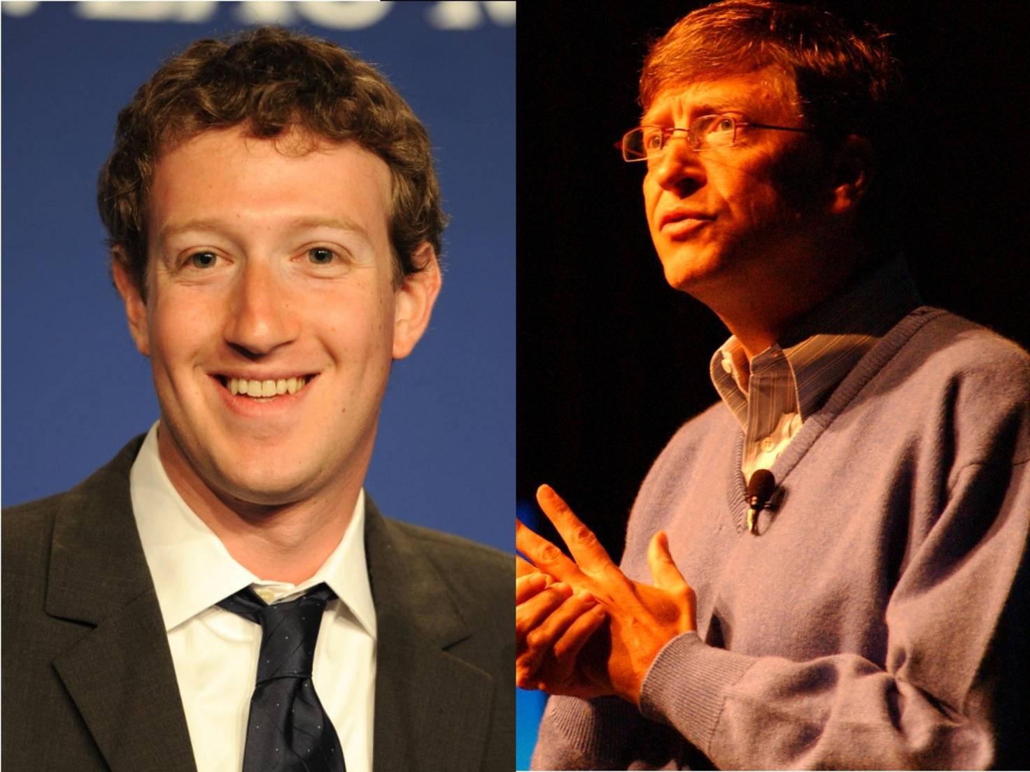 Mark Zuckerberg und Bill Gates