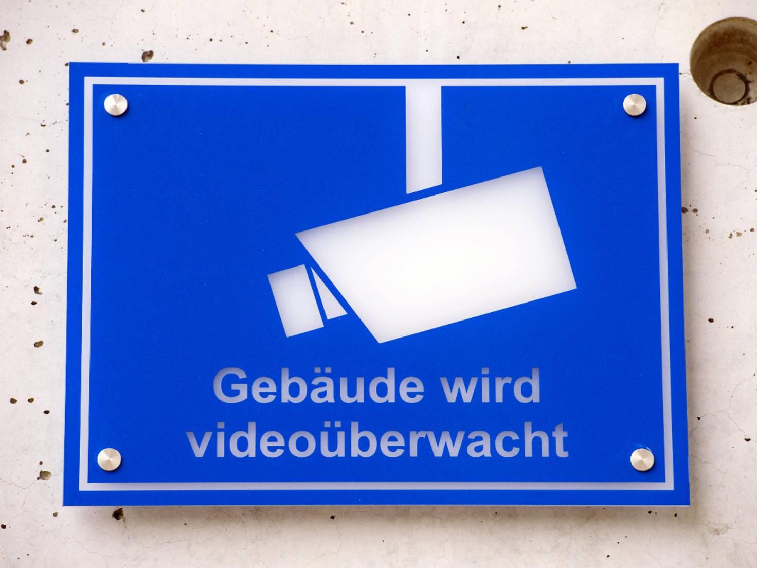 Warnung für Videoüberwachung