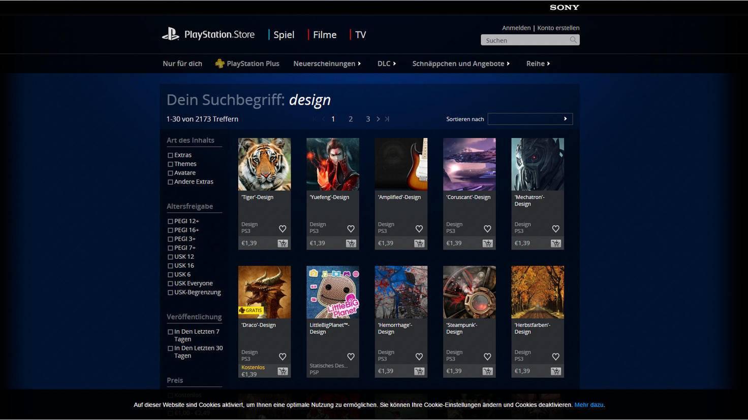 PS4 Design PlayStation Shop