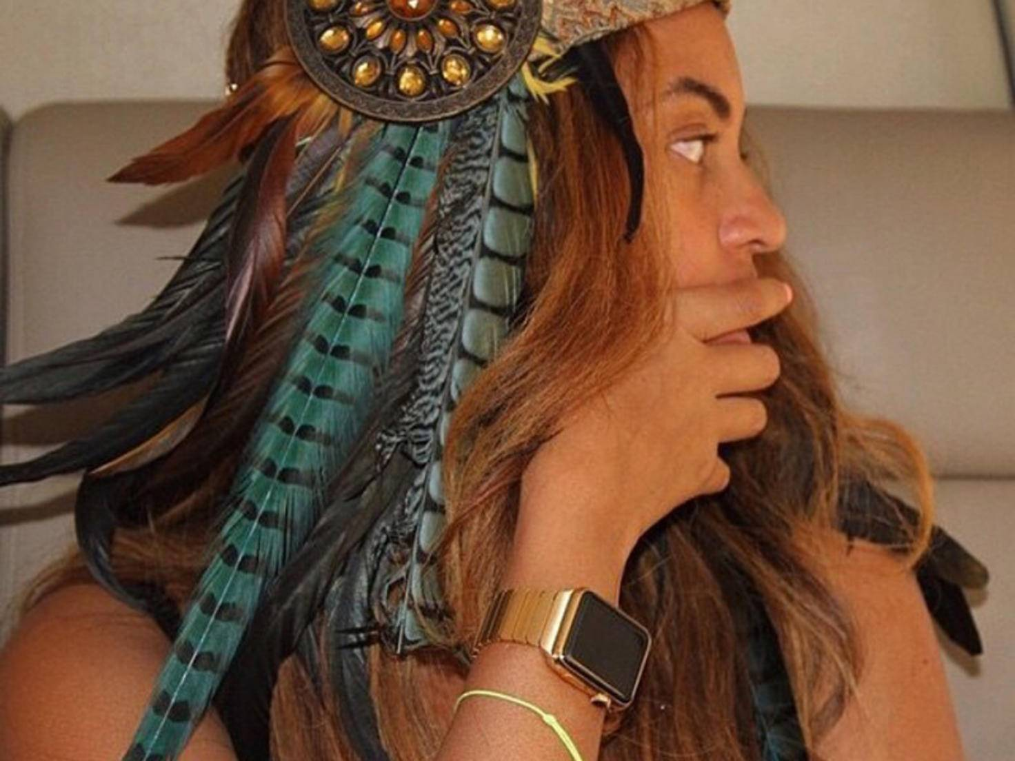 Beyoncé Knowles mit Apple Watch