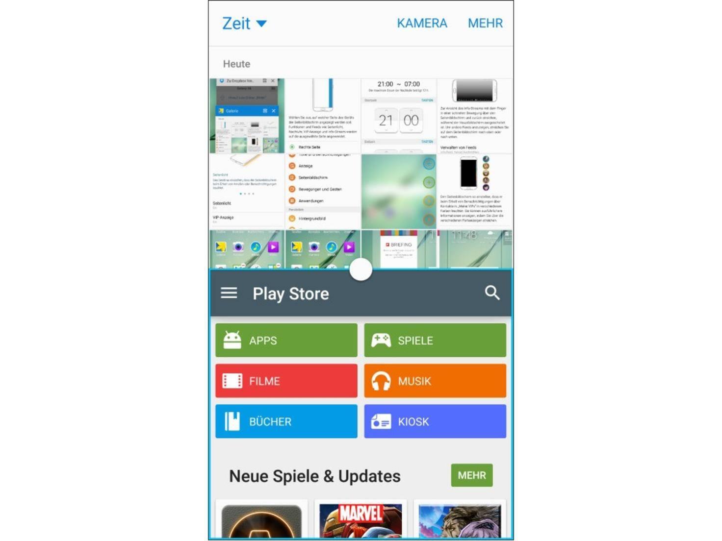Die Apps können getauscht und in der Größe variiert werden.