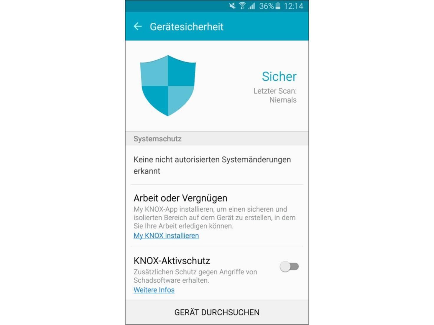 Der Knox-Aktivschutz soll vor Malware schützen.