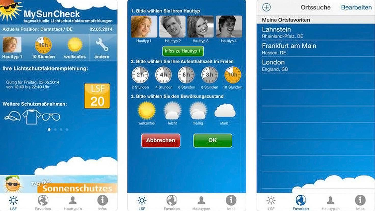 MySunCheck-App-Sonnenbrand-iTunes-health and media GmbH